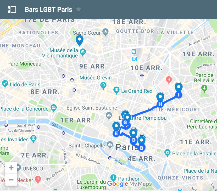 Bars lgbt à paris carte